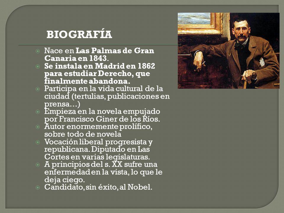  Nace en Las Palmas de Gran Canaria en 1843.