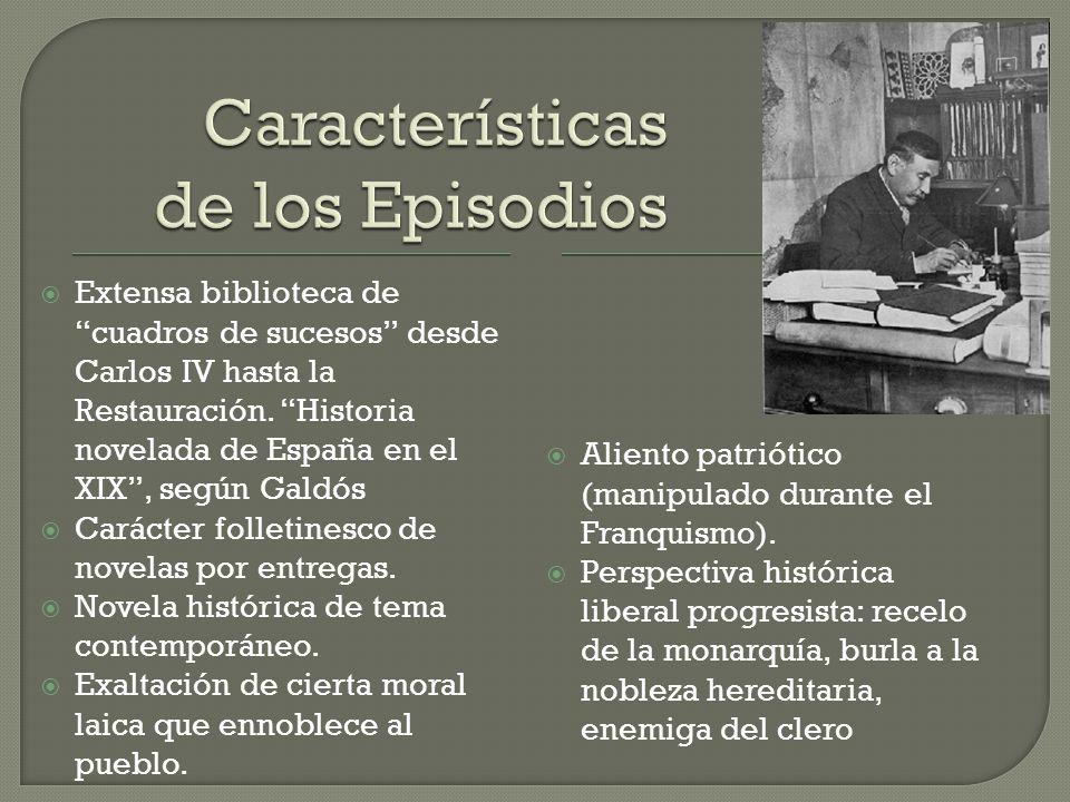  Extensa biblioteca de cuadros de sucesos desde Carlos IV hasta la Restauración.