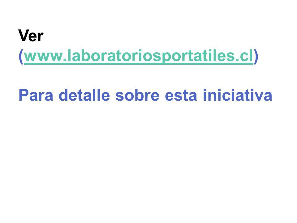 Ver (www.laboratoriosportatiles.cl)www.laboratoriosportatiles.cl Para detalle sobre esta iniciativa