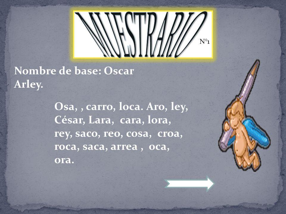 N°1 Nombre de base: Oscar Arley. Osa,, carro, loca.