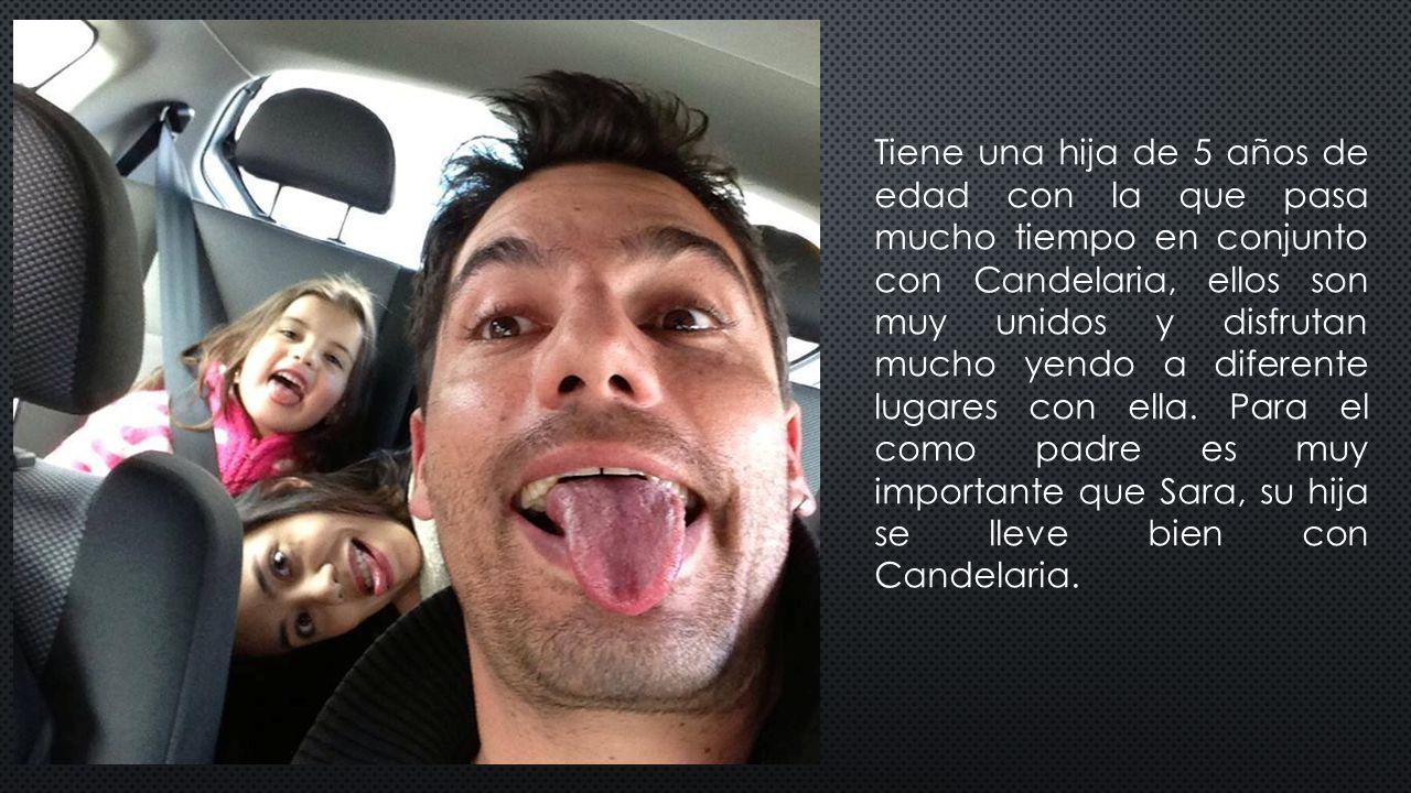 Tiene una hija de 5 años de edad con la que pasa mucho tiempo en conjunto con Candelaria, ellos son muy unidos y disfrutan mucho yendo a diferente lugares con ella.