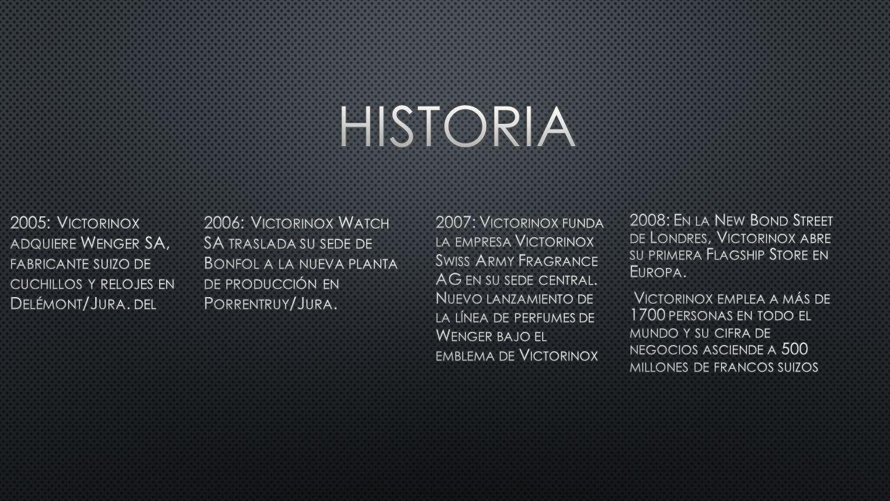2005: V ICTORINOX ADQUIERE W ENGER SA, FABRICANTE SUIZO DE CUCHILLOS Y RELOJES EN D ELÉMONT /J URA.