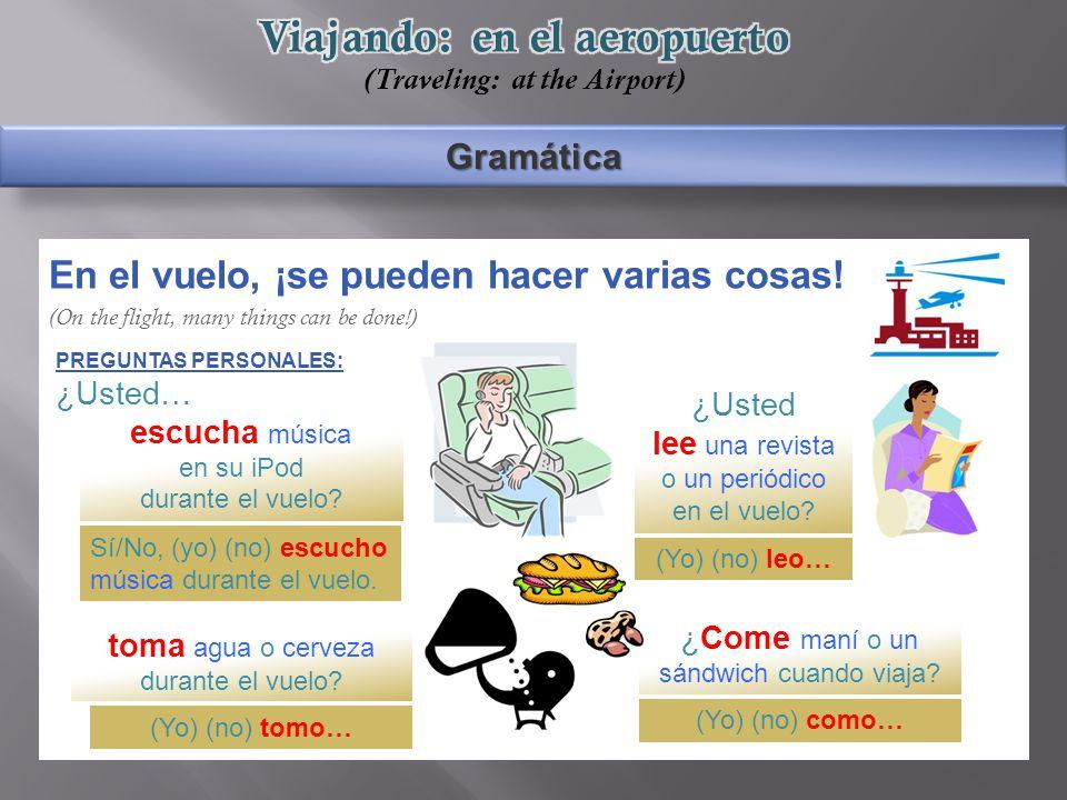 Gramática En el vuelo, ¡se pueden hacer varias cosas.