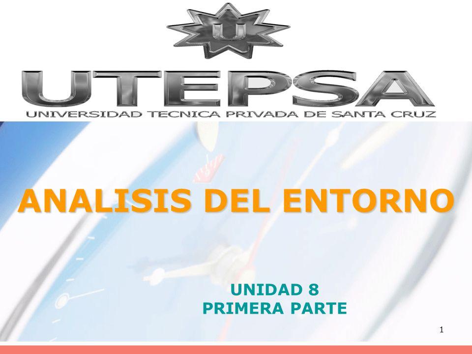 1 ANALISIS DEL ENTORNO UNIDAD 8 PRIMERA PARTE