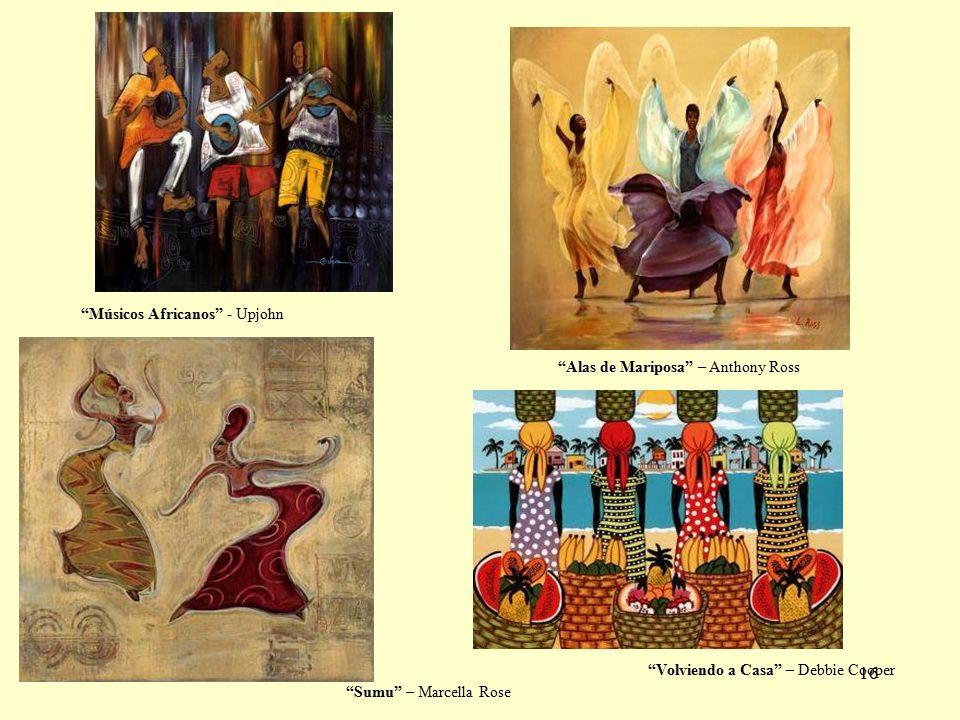 16 Sumu – Marcella Rose Alas de Mariposa – Anthony Ross Volviendo a Casa – Debbie Cooper Músicos Africanos - Upjohn