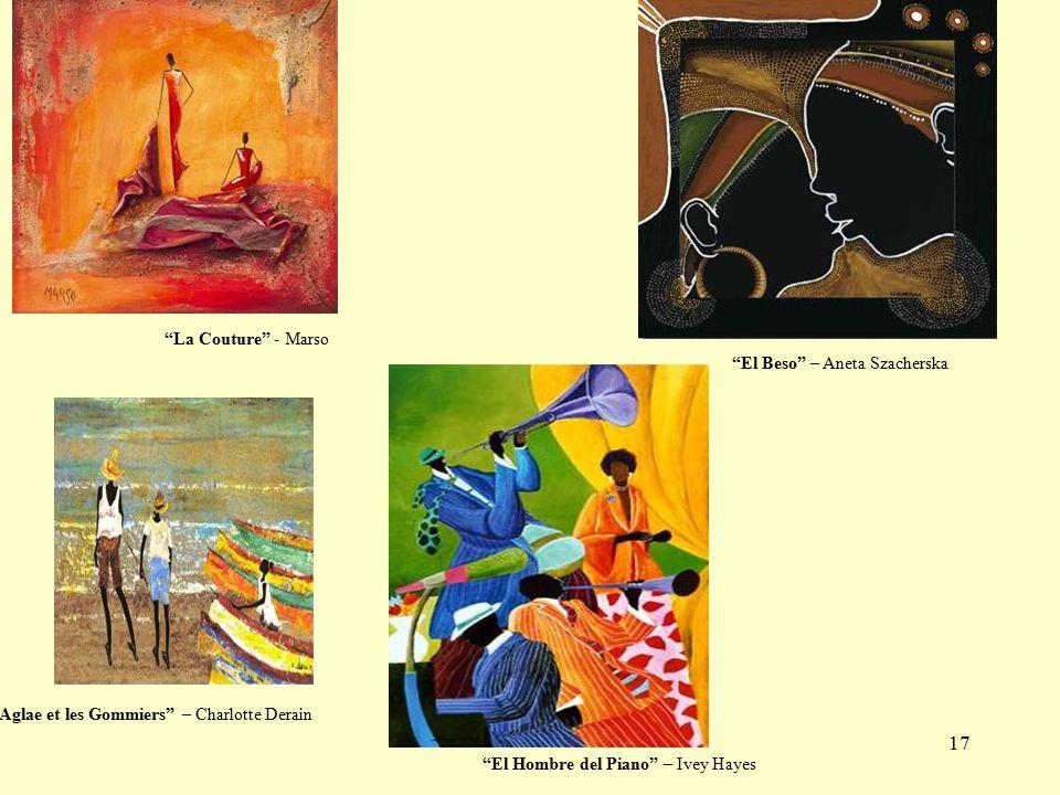 17 El Hombre del Piano – Ivey Hayes La Couture - Marso El Beso – Aneta Szacherska Aglae et les Gommiers – Charlotte Derain