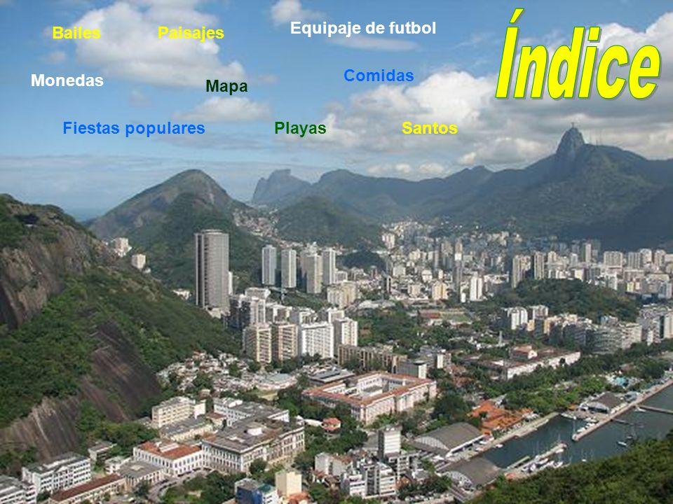 Playas Comidas Monedas Bailes Mapa Paisajes Equipaje de futbol Fiestas popularesSantos