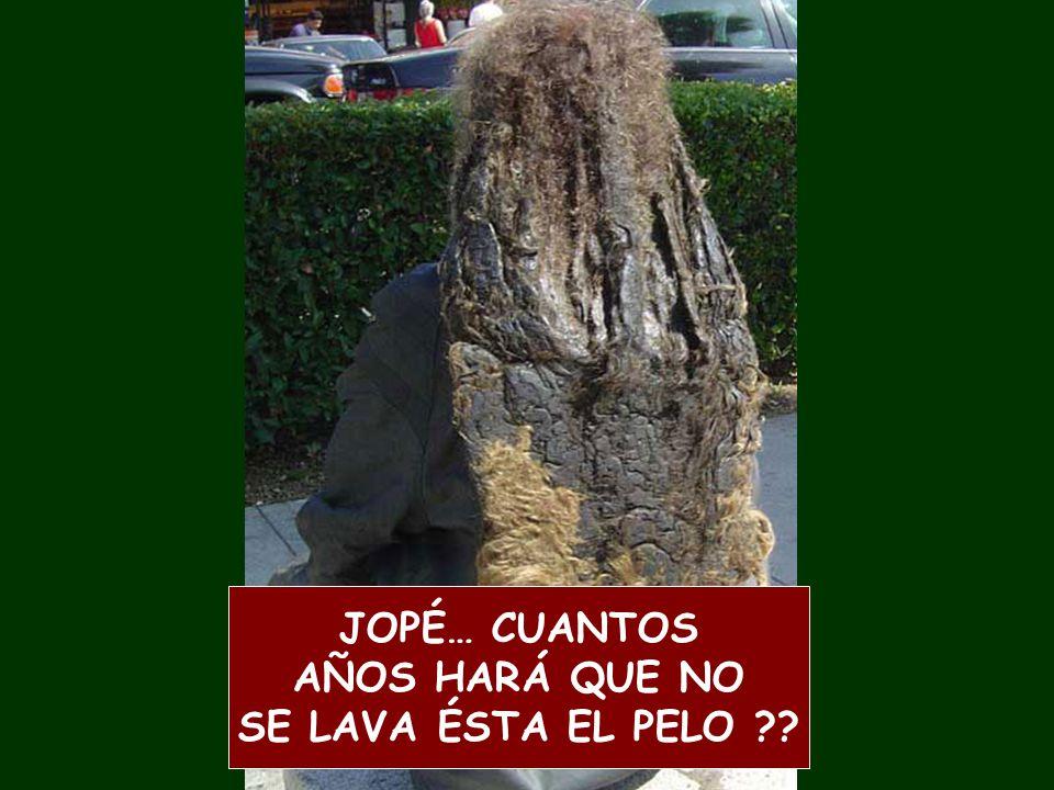 JOPÉ… CUANTOS AÑOS HARÁ QUE NO SE LAVA ÉSTA EL PELO