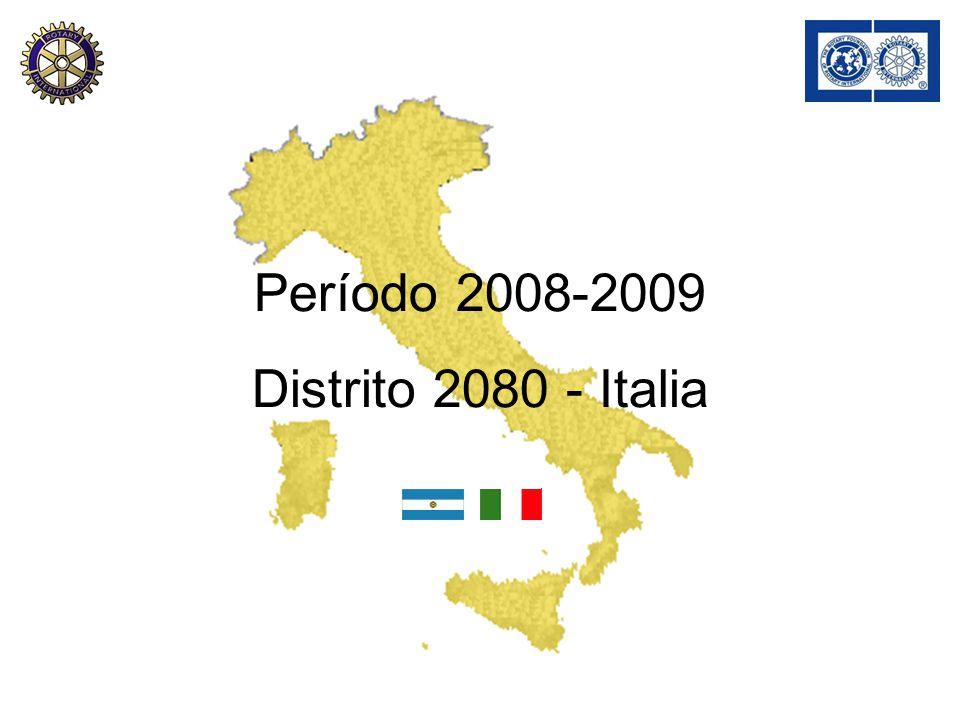 Período 2008-2009 Distrito 2080 - Italia