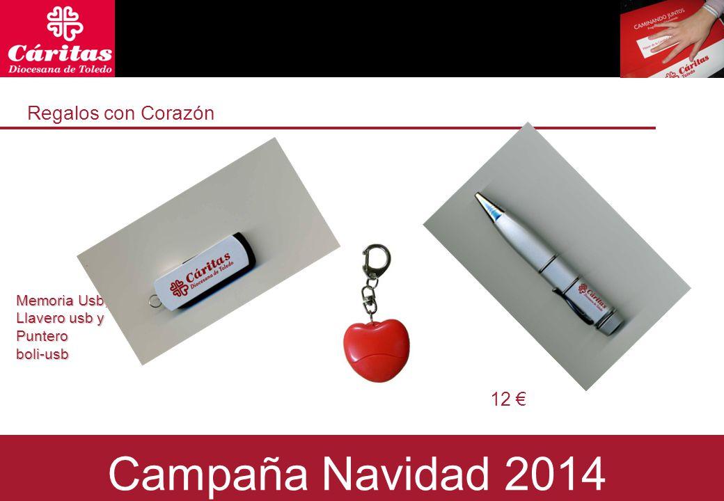 Regalos con Corazón Regals amb Cor Memoria Usb, Llavero usb y Puntero boli-usb 12 € Campaña Navidad 2014