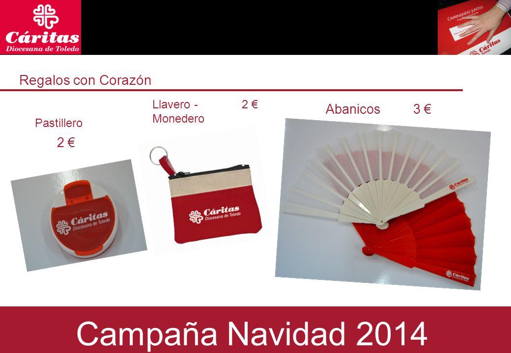 Regalos con Corazón Pastillero 2 € Abanicos Campaña Navidad 2014 Llavero - Monedero 3 €