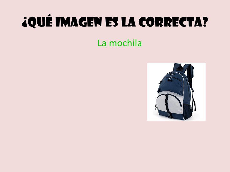 ¿Qué imagen es la correcta La mochila