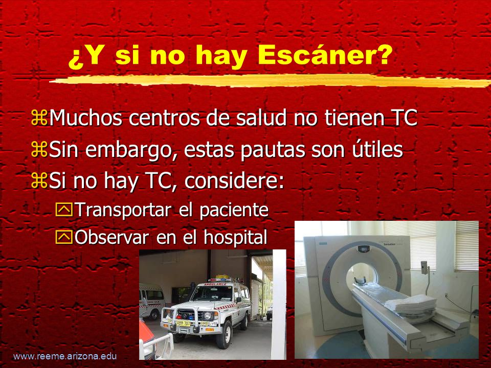 www.reeme.arizona.edu ¿Y si no hay Escáner.