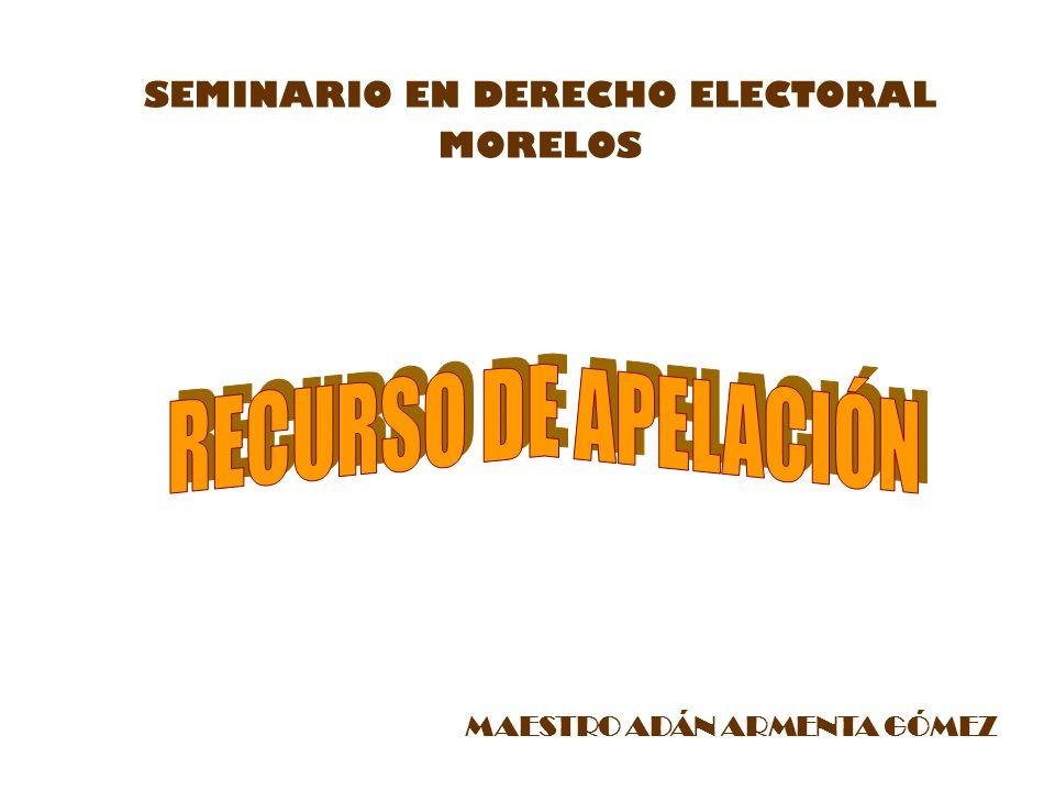 MAESTRO ADÁN ARMENTA GÓMEZ SEMINARIO EN DERECHO ELECTORAL MORELOS
