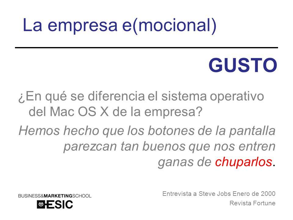 La empresa e(mocional) ¿En qué se diferencia el sistema operativo del Mac OS X de la empresa.