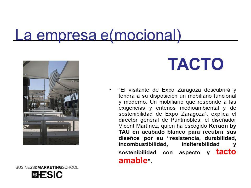 La empresa e(mocional) TACTO El visitante de Expo Zaragoza descubrirá y tendrá a su disposición un mobiliario funcional y moderno.