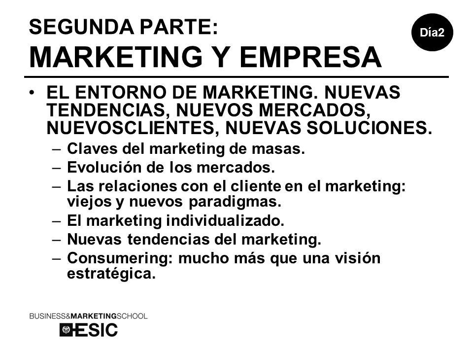 SEGUNDA PARTE: MARKETING Y EMPRESA EL ENTORNO DE MARKETING.
