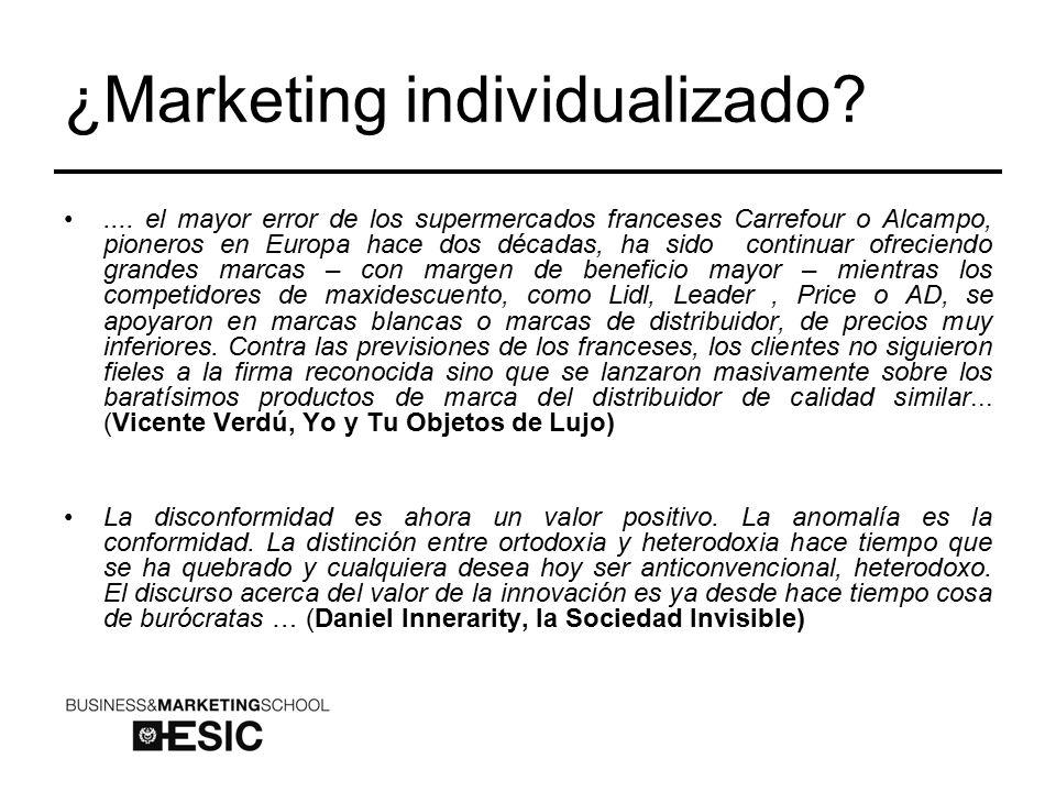 ¿Marketing individualizado ....