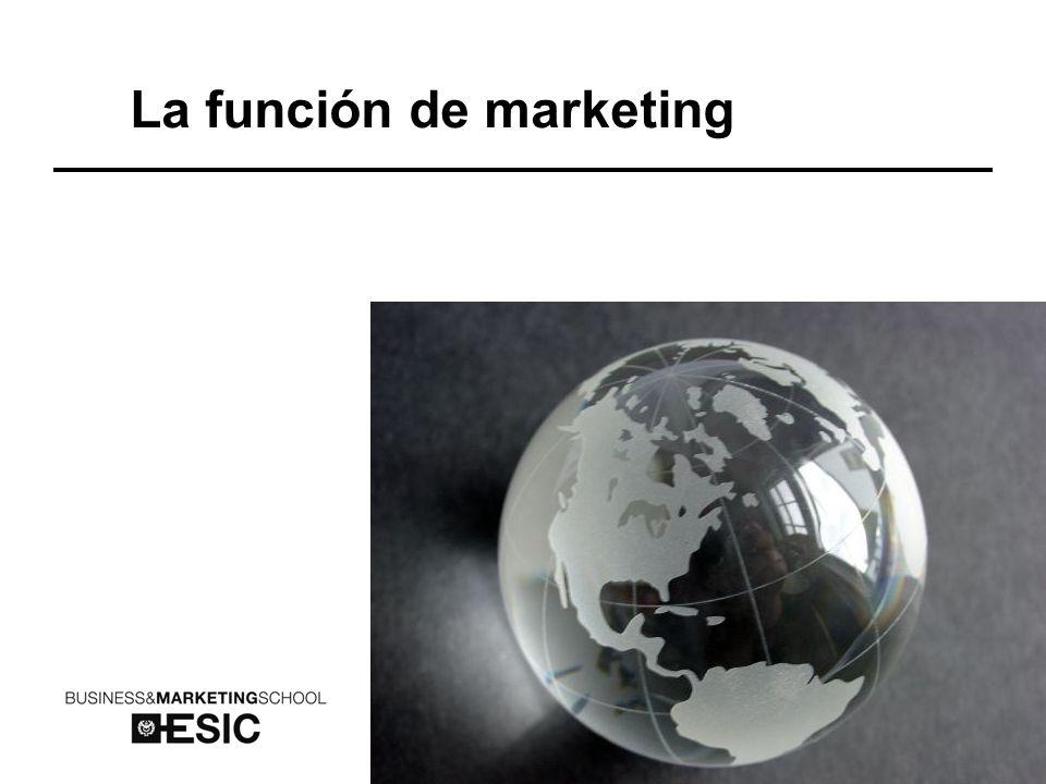 La función de marketing