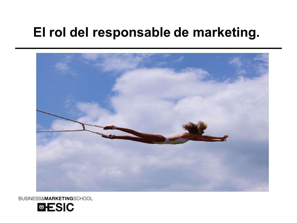 El rol del responsable de marketing.