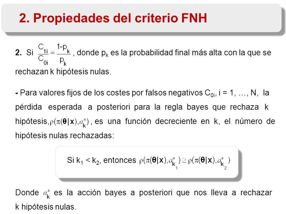 2. Si, donde p k es la probabilidad final más alta con la que se rechazan k hipótesis nulas.