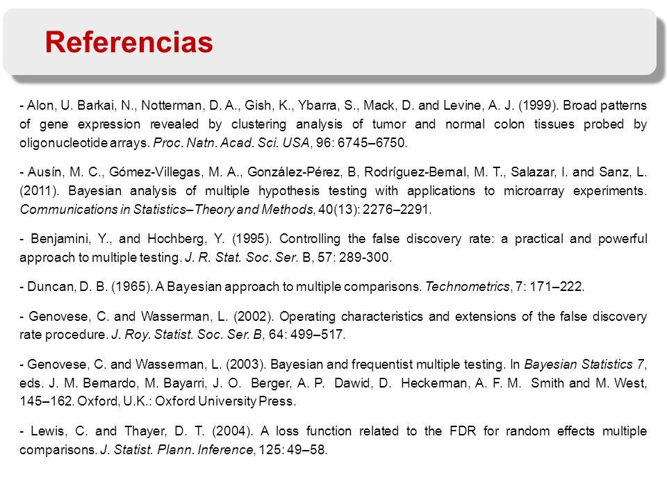 Referencias - Alon, U. Barkai, N., Notterman, D. A., Gish, K., Ybarra, S., Mack, D.