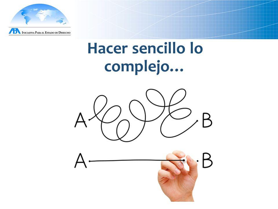 Hacer sencillo lo complejo…