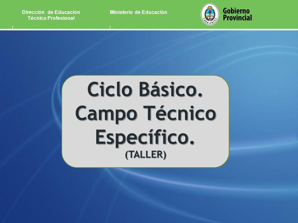 Ministerio de EducaciónDirección de Educación Técnico Profesional Ciclo Básico.