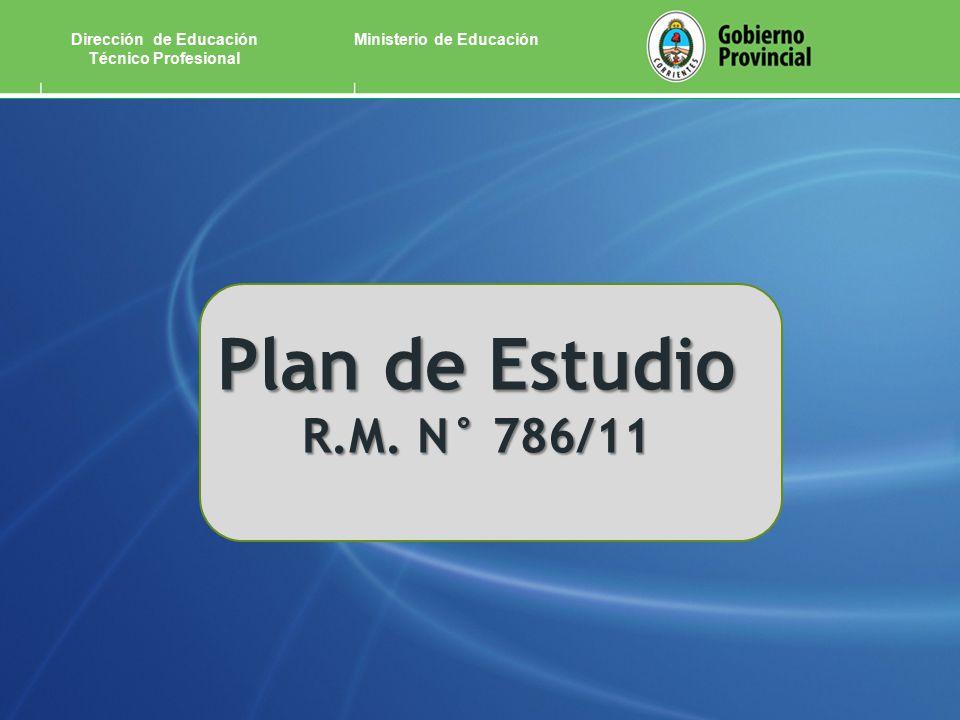 Ministerio de EducaciónDirección de Educación Técnico Profesional Plan de Estudio R.M. N° 786/11