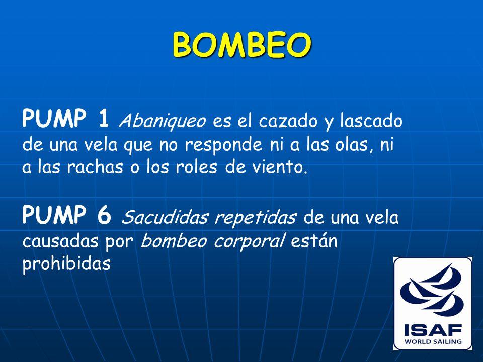 BOMBEO PUMP 1 Abaniqueo es el cazado y lascado de una vela que no responde ni a las olas, ni a las rachas o los roles de viento.