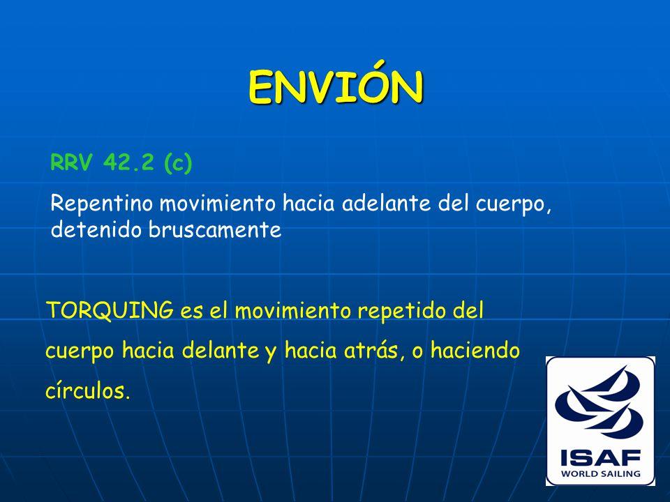 ENVIÓN RRV 42.2 (c) Repentino movimiento hacia adelante del cuerpo, detenido bruscamente TORQUING es el movimiento repetido del cuerpo hacia delante y hacia atrás, o haciendo círculos.