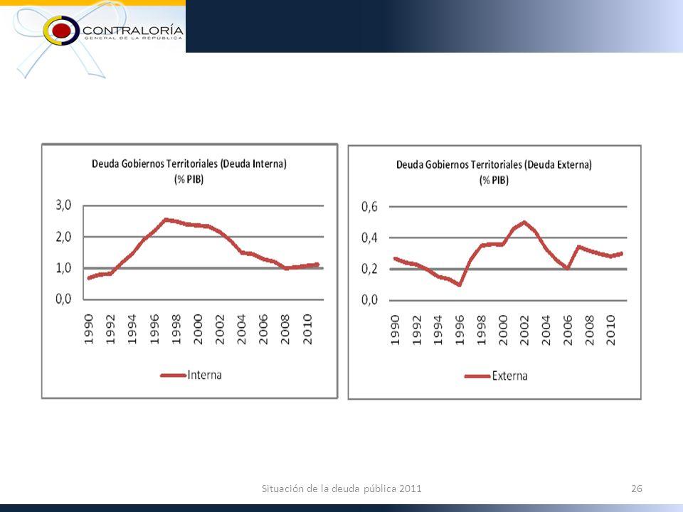 26Situación de la deuda pública 2011