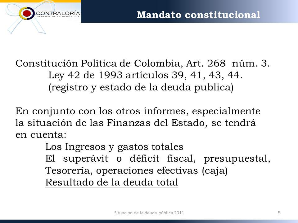 Constitución Política de Colombia, Art. 268 núm. 3.