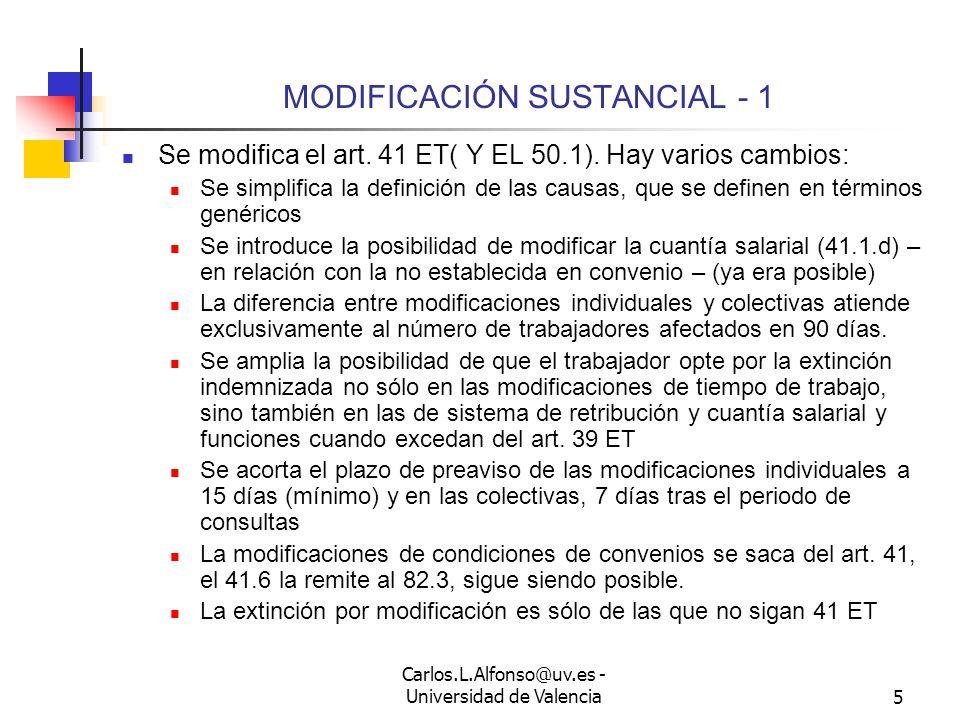 Carlos.L.Alfonso@uv.es - Universidad de Valencia4 LA NEGOCIACIÓN FORMAL Hay negociaciones generales: Convenio colectivo de empresa y negociaciones especiales.