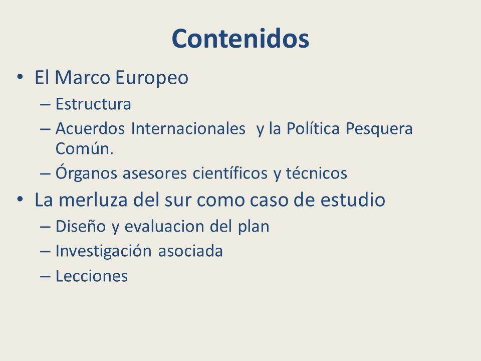 Contenidos El Marco Europeo – Estructura – Acuerdos Internacionales y la Política Pesquera Común.