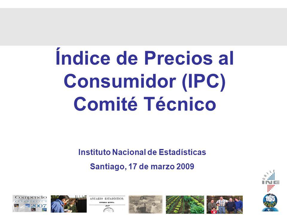 Índice de Precios al Consumidor (IPC) Comité Técnico Instituto Nacional de Estadísticas Santiago, 17 de marzo 2009