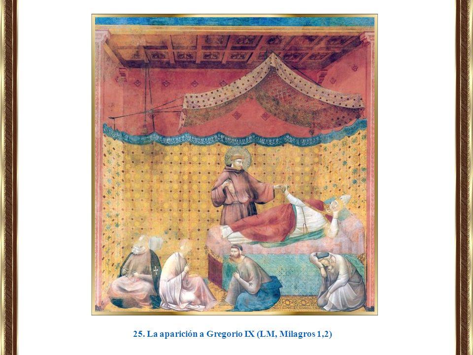 25. La aparición a Gregorio IX (LM, Milagros 1,2)