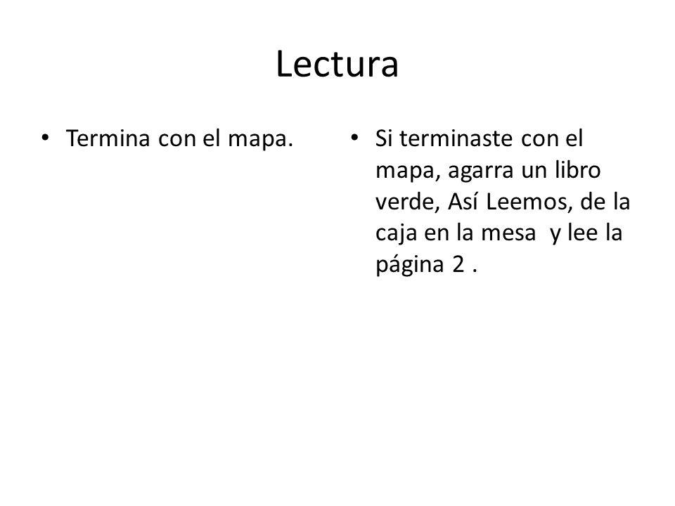 Lectura Termina con el mapa.