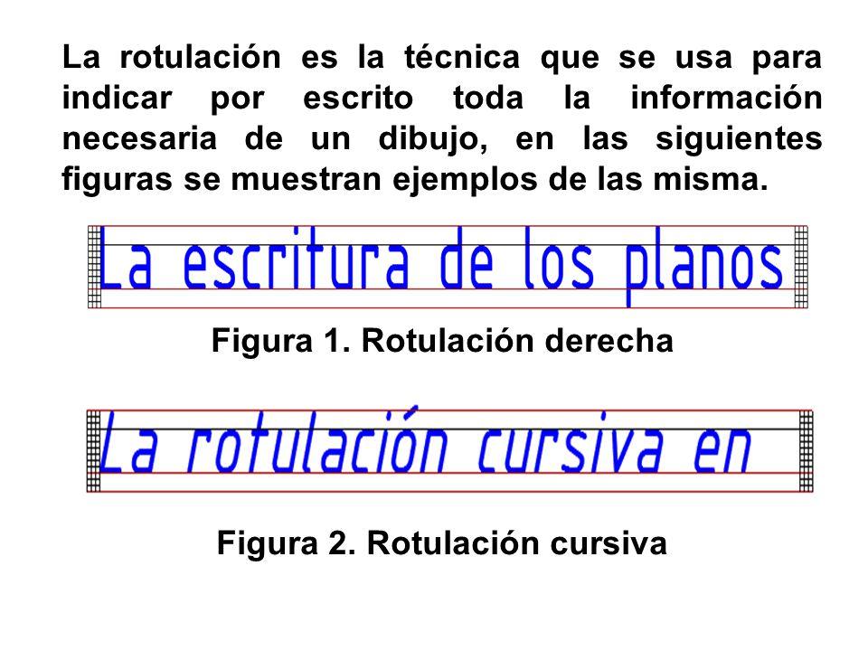 La rotulación es la técnica que se usa para indicar por escrito toda la información necesaria de un dibujo, en las siguientes figuras se muestran ejemplos de las misma.
