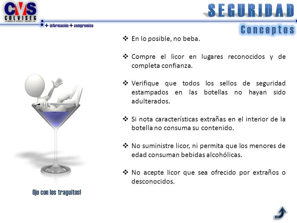 + información + compromiso  En lo posible, no beba.
