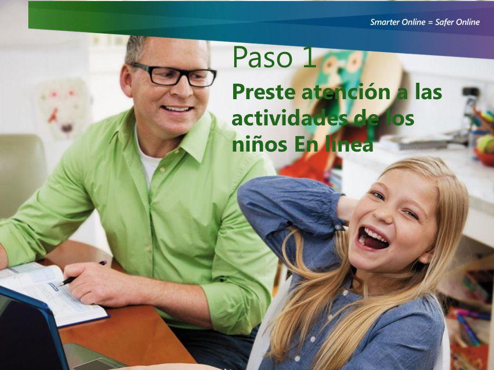 Paso 1 Preste atención a las actividades de los niños En línea