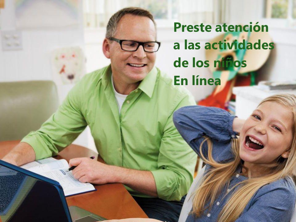 Preste atención a las actividades de los niños En línea