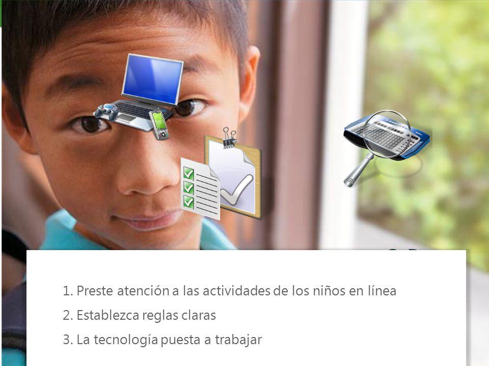1. Preste atención a las actividades de los niños en línea 2.