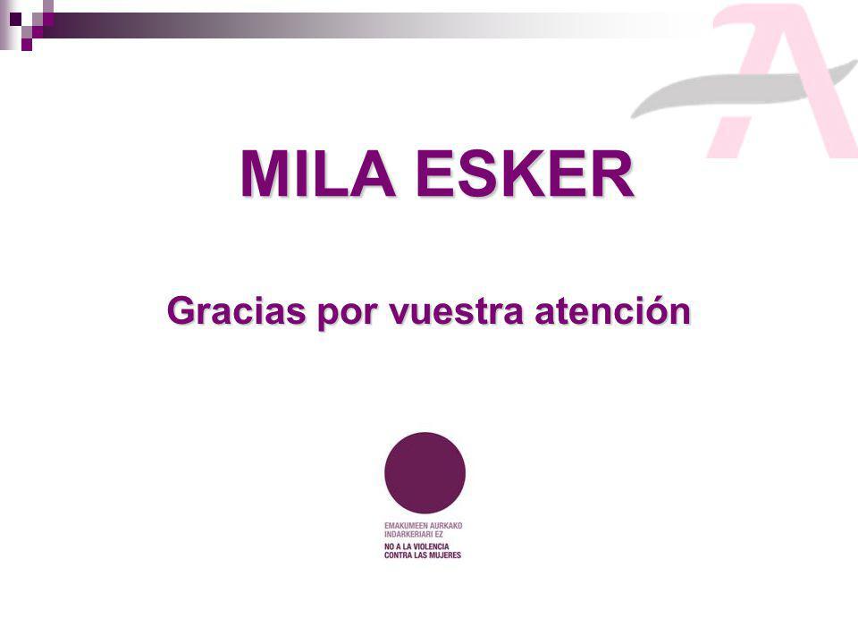 MILA ESKER Gracias por vuestra atención