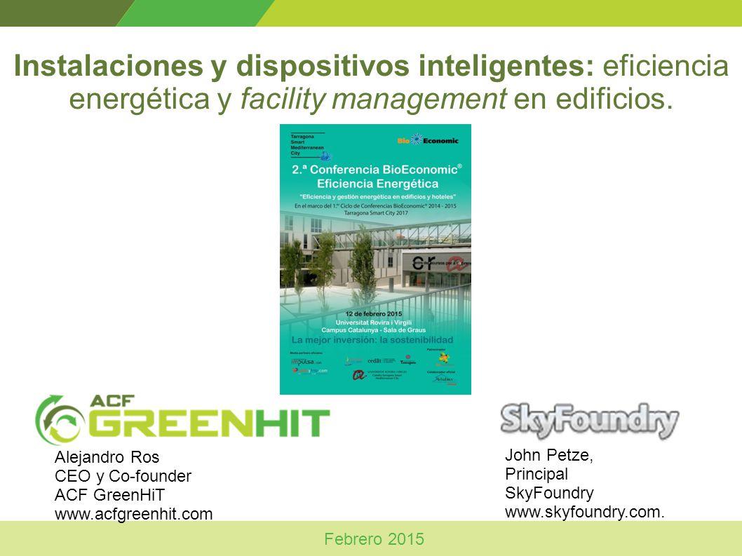 Instalaciones y dispositivos inteligentes: eficiencia energética y facility management en edificios.