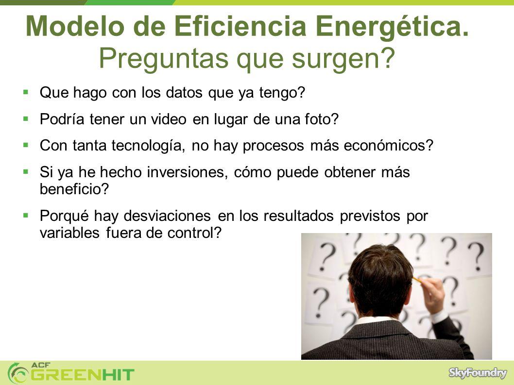 Modelo de Eficiencia Energética. Preguntas que surgen.