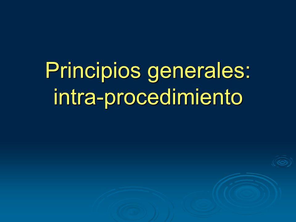 Principios generales: intra-procedimiento