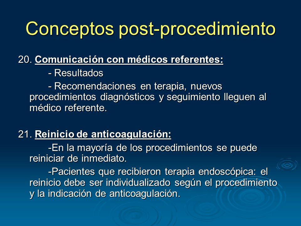 Conceptos post-procedimiento 20.
