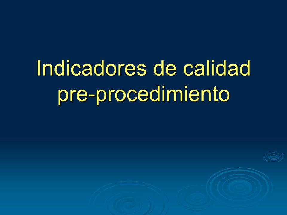 Indicadores de calidad pre-procedimiento