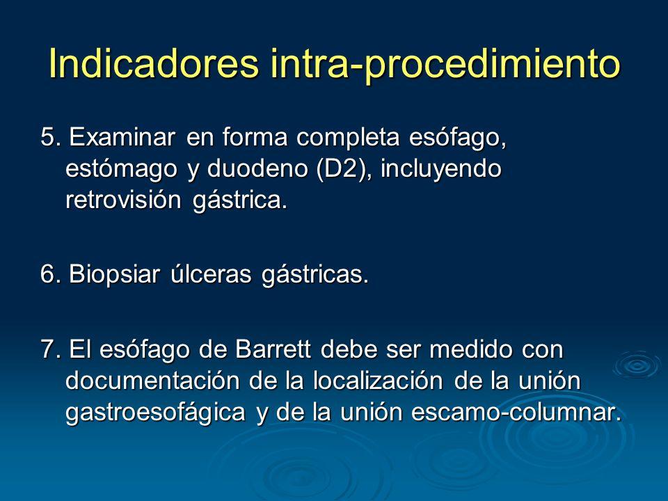 Indicadores intra-procedimiento 5.